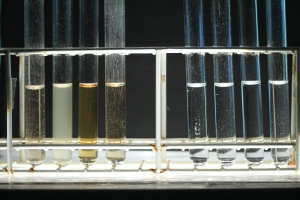 The natural samples from left to right 1-8
